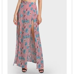 M slit maxi skirt with built in shorts